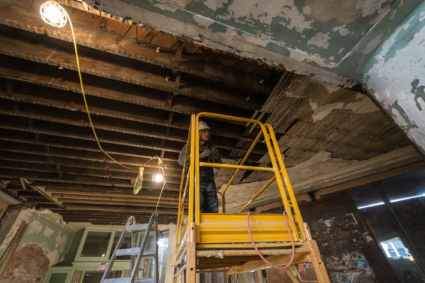 Removing plaster and lath